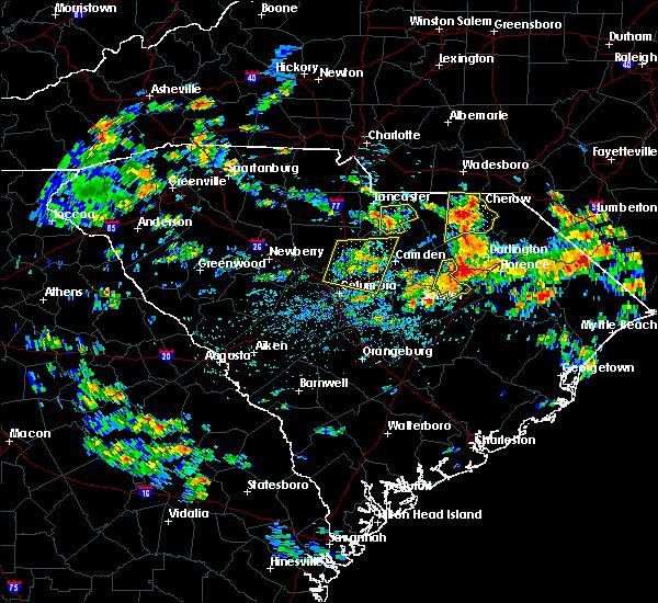 Radar Image for Severe Thunderstorms near Lynchburg, SC at 7/13/2019 2:30 PM EDT
