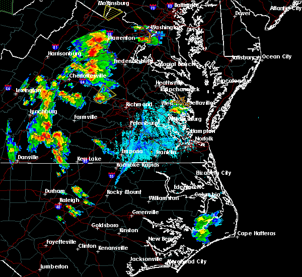 Radar Image for Severe Thunderstorms near Baskerville, VA at 6/20/2015 6:51 PM EDT