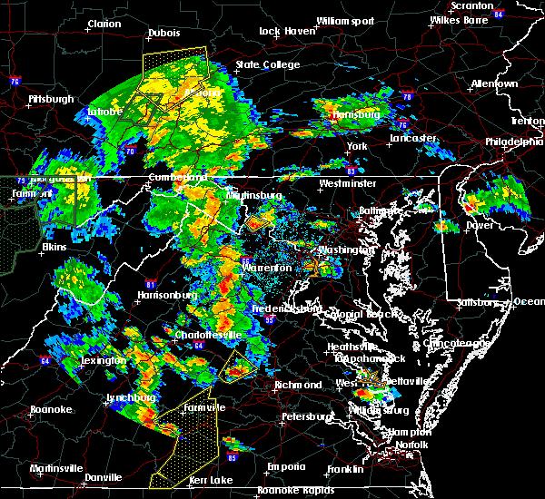 Radar Image for Severe Thunderstorms near Lovettsville, VA at 6/20/2015 6:57 PM EDT