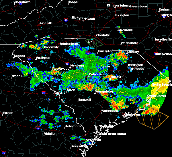 Radar Image for Severe Thunderstorms near Orangeburg, SC at 7/13/2019 7:02 PM EDT