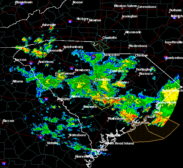Radar Image for Severe Thunderstorms near Rowesville, SC at 7/13/2019 7:31 PM EDT