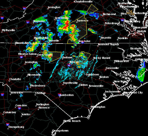 Radar Image for Severe Thunderstorms near Durham, NC at 6/20/2015 7:04 PM EDT