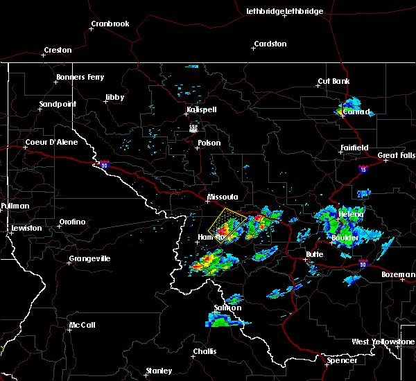 Radar Image for Severe Thunderstorms near Clinton, MT at 7/13/2019 8:46 PM MDT