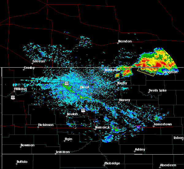Radar Image for Severe Thunderstorms near Wales, ND at 7/14/2019 7:29 AM CDT