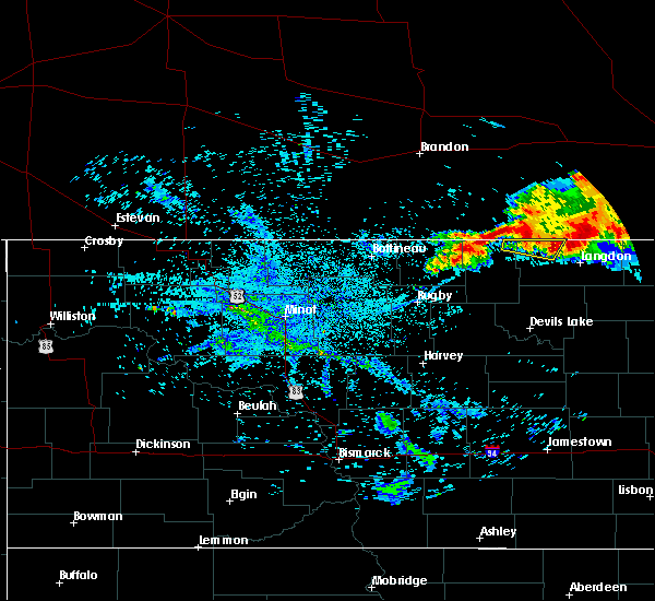Radar Image for Severe Thunderstorms near Wales, ND at 7/14/2019 7:44 AM CDT