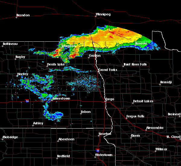 Radar Image for Severe Thunderstorms near Park River, ND at 7/14/2019 10:07 AM CDT