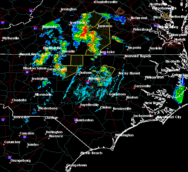 Radar Image for Severe Thunderstorms near Nashville, NC at 6/20/2015 7:10 PM EDT