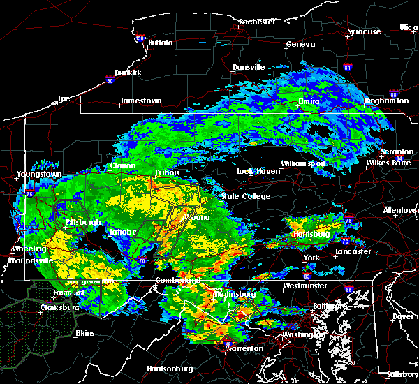 Radar Image for Severe Thunderstorms near Tyrone, PA at 6/20/2015 7:10 PM EDT