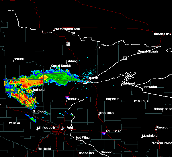 Radar Image for Severe Thunderstorms near Merrifield, MN at 7/14/2019 6:22 PM CDT