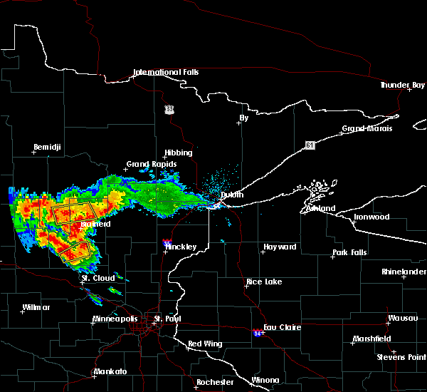 Radar Image for Severe Thunderstorms near Pequot Lakes, MN at 7/14/2019 6:37 PM CDT
