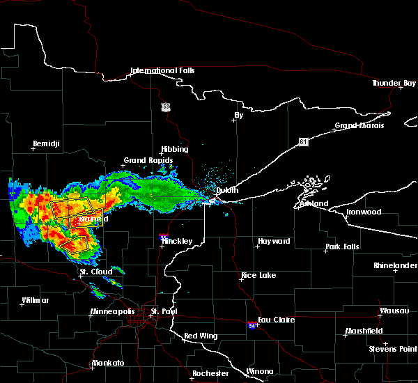 Radar Image for Severe Thunderstorms near Ironton, MN at 7/14/2019 6:41 PM CDT