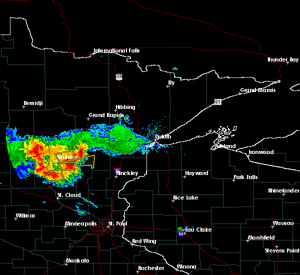 Radar Image for Severe Thunderstorms near Ironton, MN at 7/14/2019 6:58 PM CDT