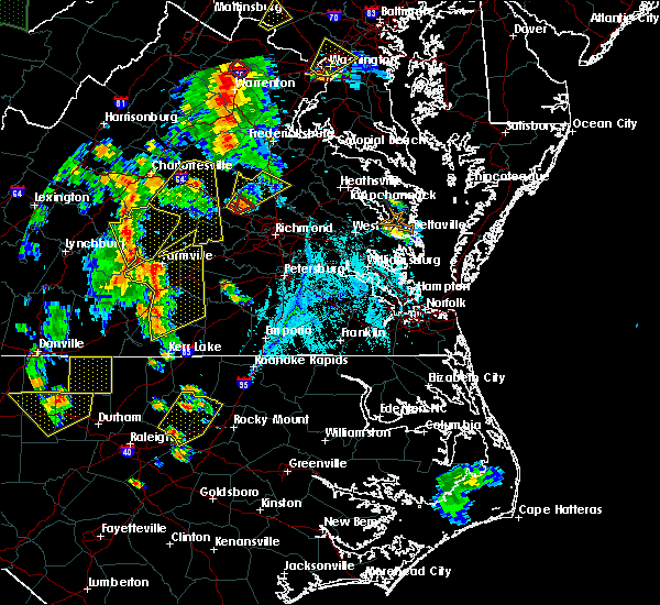 Radar Image for Severe Thunderstorms near Goochland, VA at 6/20/2015 7:20 PM EDT