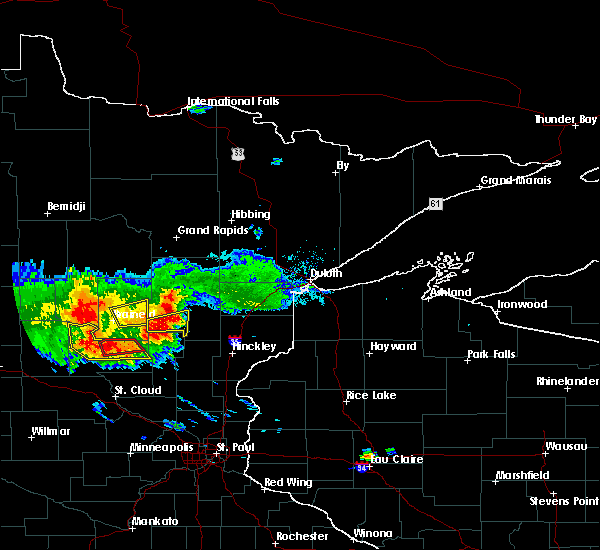 Radar Image for Severe Thunderstorms near Aitkin, MN at 7/14/2019 7:16 PM CDT