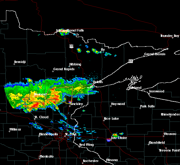 Radar Image for Severe Thunderstorms near Rutledge, MN at 7/14/2019 7:39 PM CDT