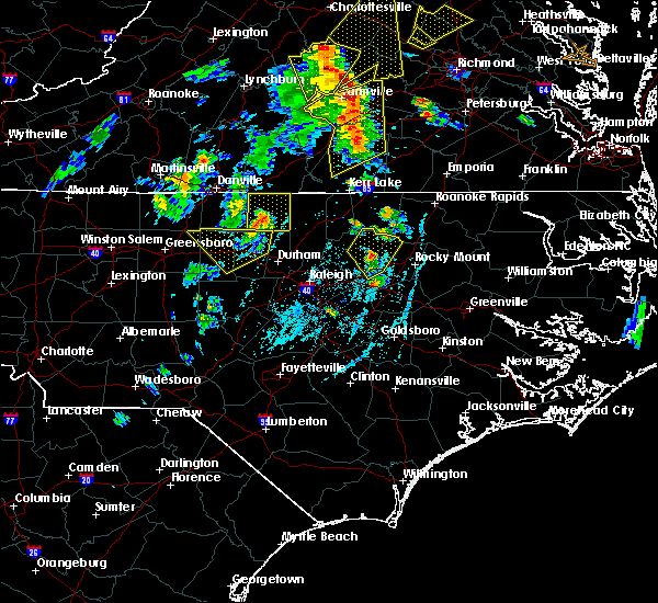 Radar Image for Severe Thunderstorms near Glen Raven, NC at 6/20/2015 7:24 PM EDT