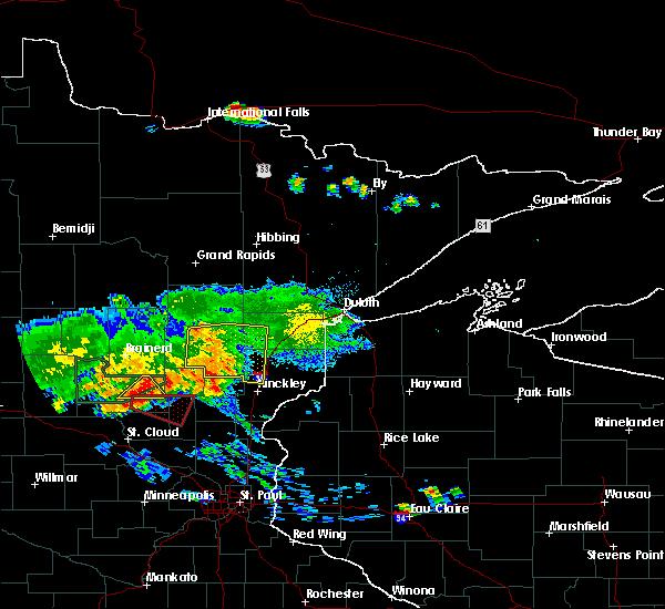Radar Image for Severe Thunderstorms near Rutledge, MN at 7/14/2019 7:55 PM CDT