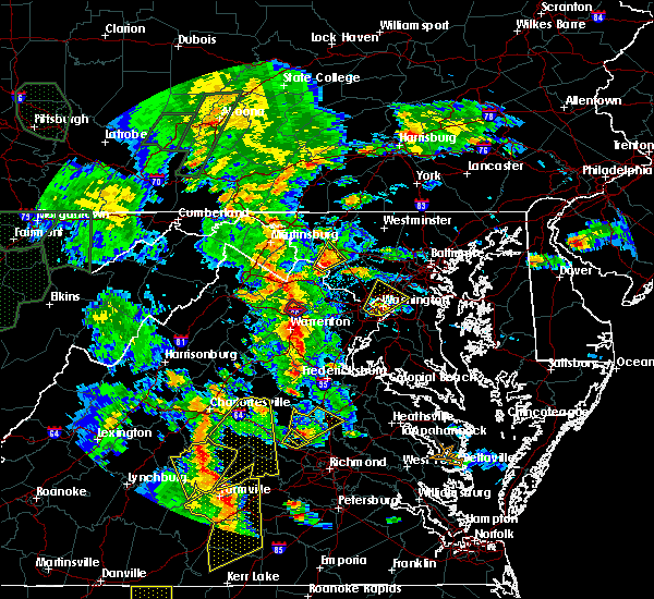 Radar Image for Severe Thunderstorms near Calverton, VA at 6/20/2015 7:24 PM EDT