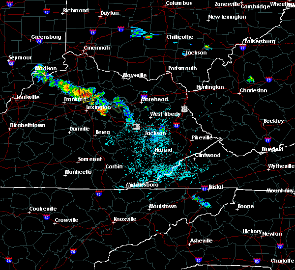 Radar Image for Severe Thunderstorms near Georgetown, KY at 7/14/2019 9:52 PM EDT