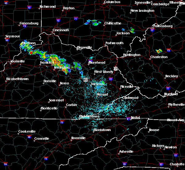 Radar Image for Severe Thunderstorms near Georgetown, KY at 7/14/2019 10:08 PM EDT