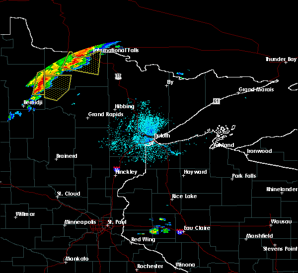 Radar Image for Severe Thunderstorms near Northome, MN at 7/15/2019 1:06 PM CDT