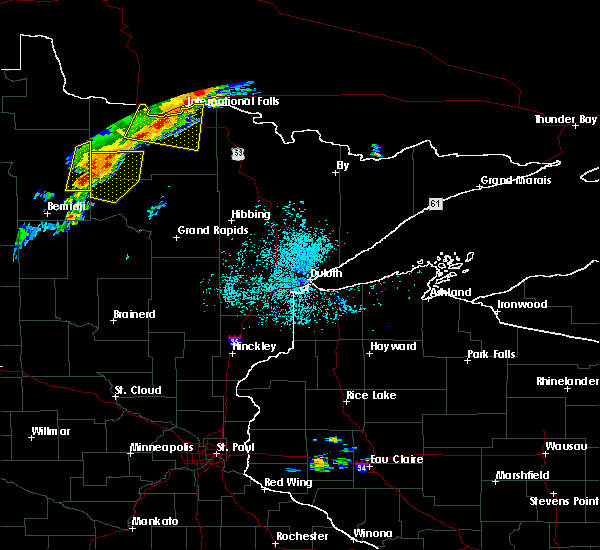 Radar Image for Severe Thunderstorms near Northome, MN at 7/15/2019 1:13 PM CDT