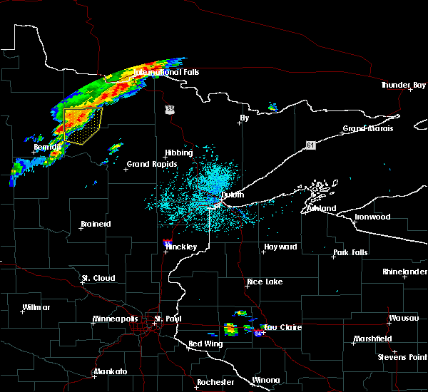 Radar Image for Severe Thunderstorms near Northome, MN at 7/15/2019 1:20 PM CDT