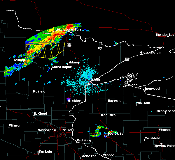 Radar Image for Severe Thunderstorms near Northome, MN at 7/15/2019 1:35 PM CDT