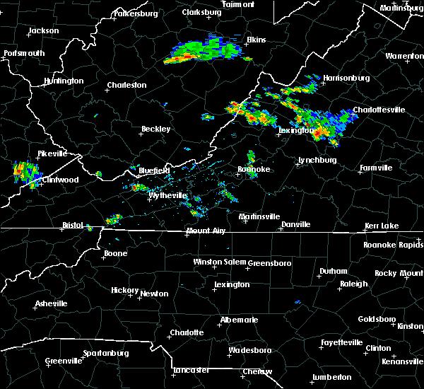 Radar Image for Severe Thunderstorms near Lovingston, VA at 7/15/2019 3:43 PM EDT