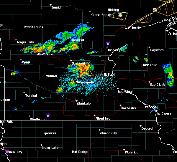 Radar Image for Severe Thunderstorms near Rogers, MN at 7/15/2019 4:43 PM CDT