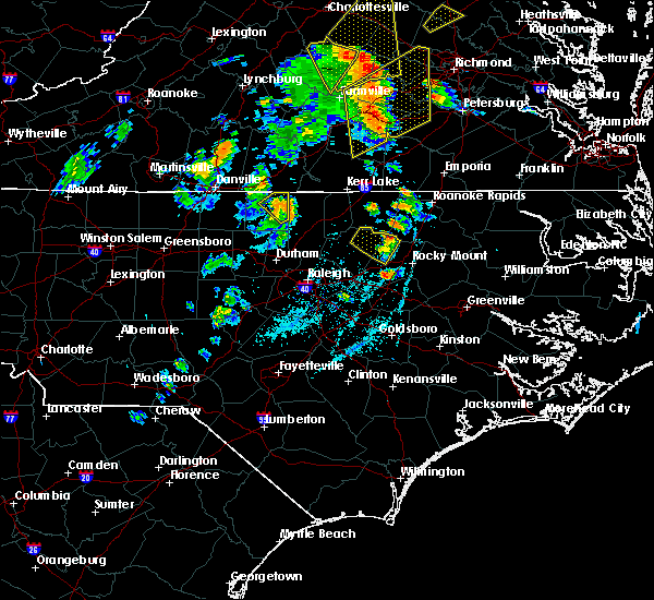 Radar Image for Severe Thunderstorms near Oxford, NC at 6/20/2015 7:41 PM EDT