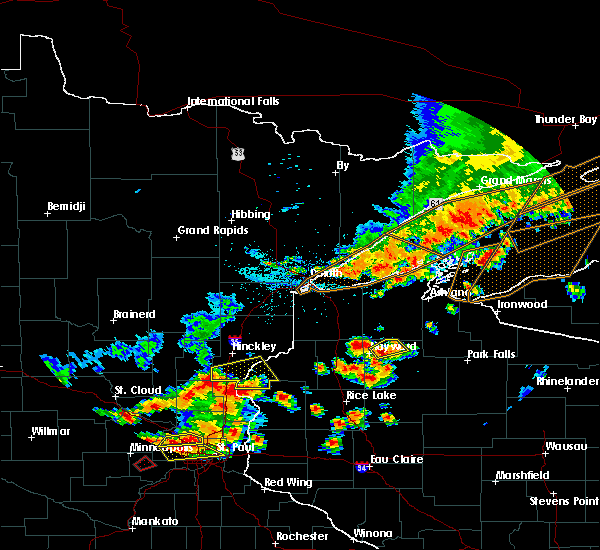 Radar Image for Severe Thunderstorms near Little Round Lake, WI at 7/15/2019 5:43 PM CDT