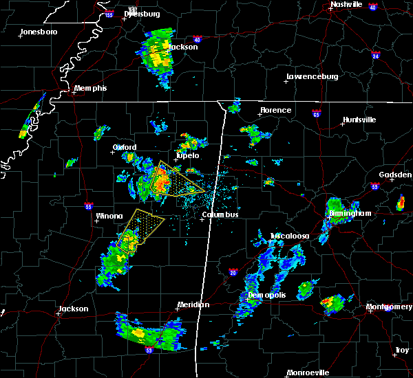 Radar Image for Severe Thunderstorms near Shannon, MS at 7/15/2019 6:04 PM CDT
