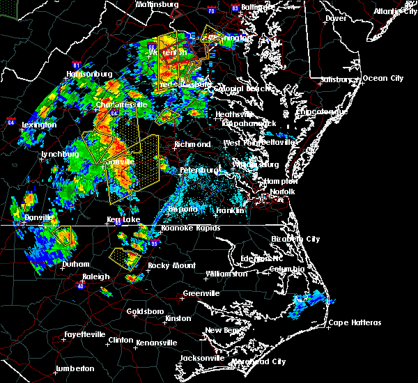Radar Image for Severe Thunderstorms near Dillwyn, VA at 6/20/2015 7:40 PM EDT