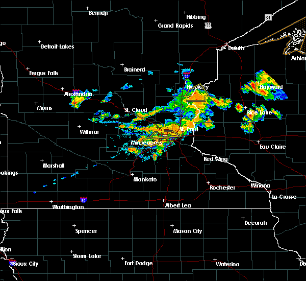Radar Image for Severe Thunderstorms near Rock Creek, MN at 7/15/2019 6:06 PM CDT
