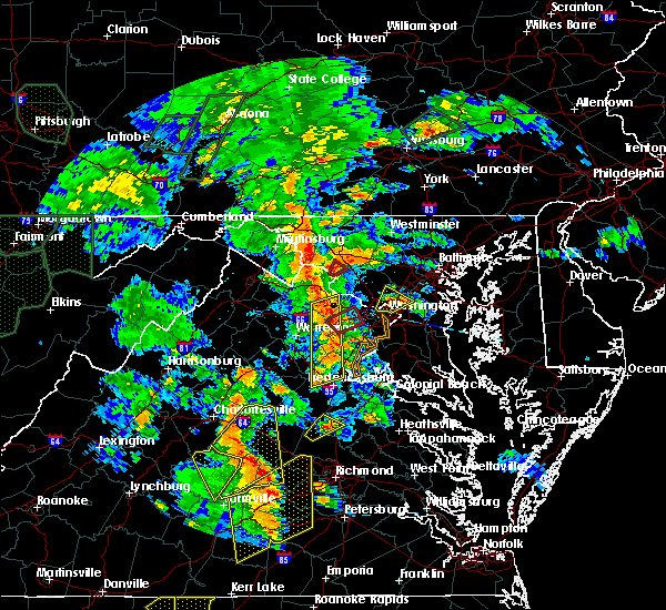 Radar Image for Severe Thunderstorms near Walkersville, MD at 6/20/2015 7:43 PM EDT