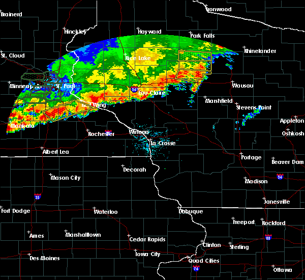 Radar Image for Severe Thunderstorms near Lublin, WI at 7/15/2019 8:30 PM CDT