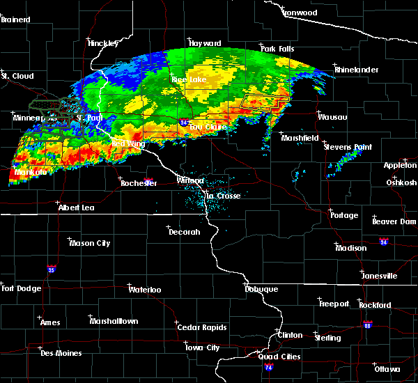 Radar Image for Severe Thunderstorms near Lublin, WI at 7/15/2019 8:40 PM CDT