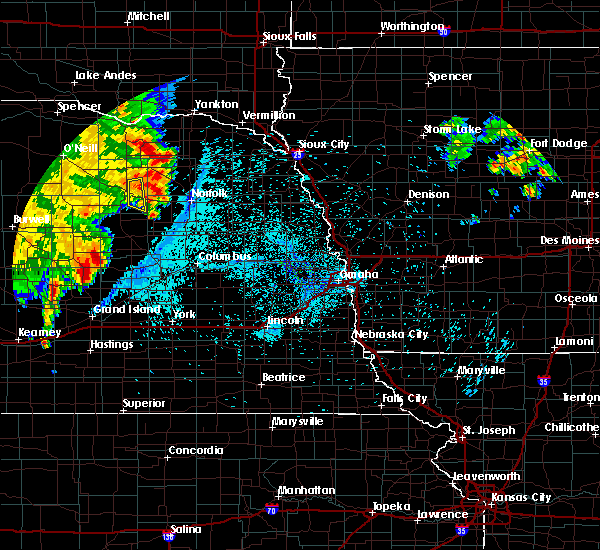 Radar Image for Severe Thunderstorms near Oakdale, NE at 7/16/2019 3:13 AM CDT