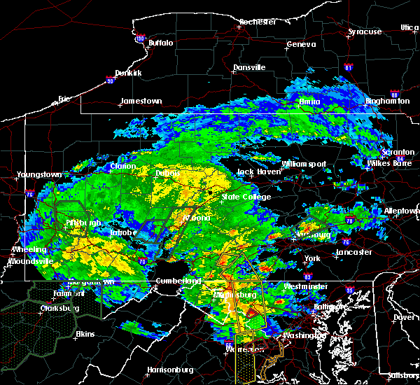 Radar Image for Severe Thunderstorms near Fort Loudon, PA at 6/20/2015 7:50 PM EDT