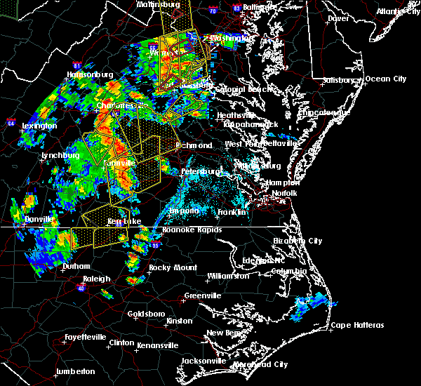 Radar Image for Severe Thunderstorms near Dillwyn, VA at 6/20/2015 7:57 PM EDT
