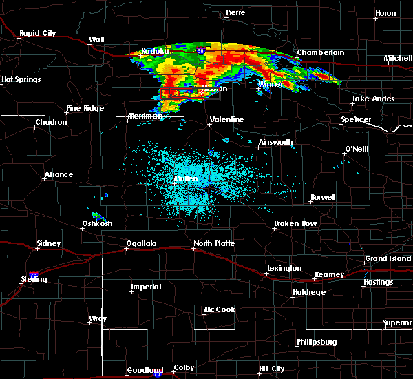 Radar Image for Severe Thunderstorms near Two Strike, SD at 7/17/2019 2:54 AM CDT