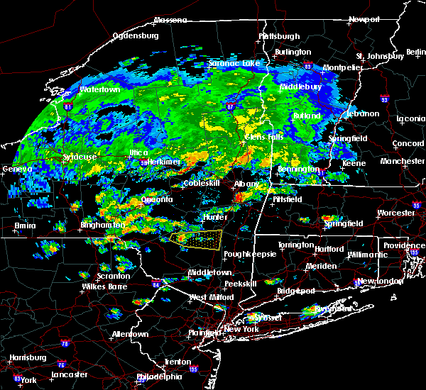 Radar Image for Severe Thunderstorms near Hurley, NY at 7/17/2019 1:40 PM EDT