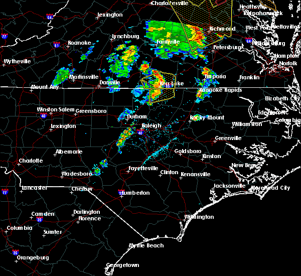 Radar Image for Severe Thunderstorms near Warrenton, NC at 6/20/2015 8:24 PM EDT