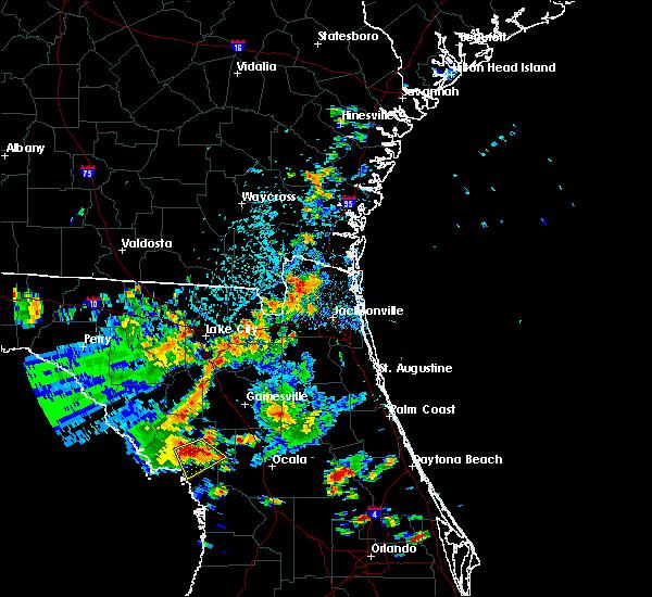 Radar Image for Severe Thunderstorms near Williston Highlands, FL at 7/17/2019 3:53 PM EDT