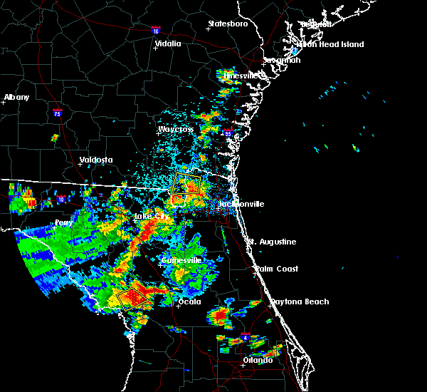 Radar Image for Severe Thunderstorms near Williston Highlands, FL at 7/17/2019 4:05 PM EDT