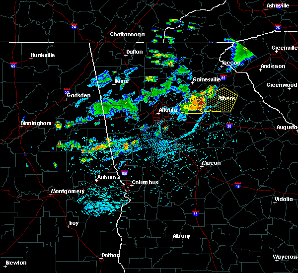 Radar Image for Severe Thunderstorms near Colbert, GA at 7/17/2019 4:47 PM EDT