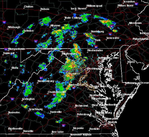 Radar Image for Severe Thunderstorms near Vienna, VA at 7/17/2019 4:51 PM EDT