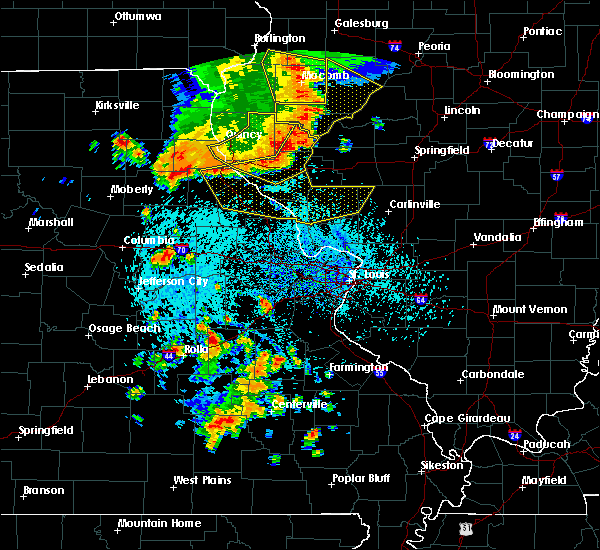 Radar Image for Severe Thunderstorms near Hannibal, MO at 7/17/2019 4:14 PM CDT