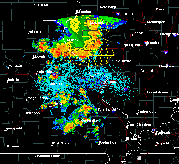 Radar Image for Severe Thunderstorms near Nebo, IL at 7/17/2019 4:32 PM CDT